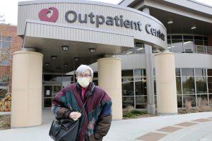 Pat Blair at the Outpatient Center