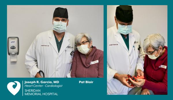 SMH cardiologist Dr. Joseph Garcia with Pat Blair