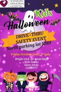 Halloween Safety Drive-Through Event @ Sheridan Memorial Hospital North Parking Lot